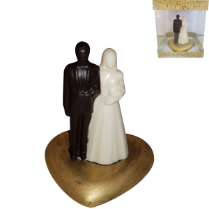 Standing Chocolate Couple